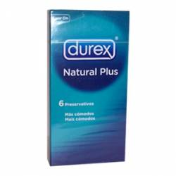 DUREX PLUS NATURAL EASY ON X 6